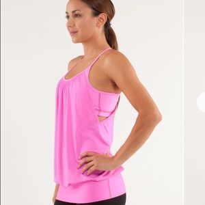 Lululemon No Limits Tank Pow Pink On Pink
